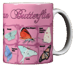 Butterfly ABC Ceramic Mug - Back