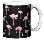 Flamingos Ceramic Mug - Back
