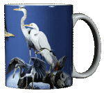 Wading Birds Ceramic Mug - Back