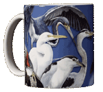 Wading Birds Ceramic Mug