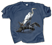 Wading Birds Adult T-shirt - Front