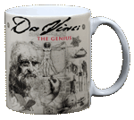 DaVinci Ceramic Mug - Back