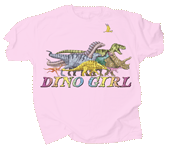 Dino Girl Youth T-shirt - Front