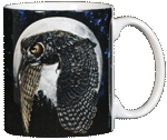 Hunter's Moon Ceramic Mug - Back