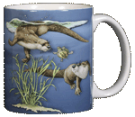 Otter Splash Ceramic Mug - Back