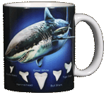 Sharks! Ceramic Mug - Back