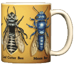 Bee Circle Ceramic Mug - Back