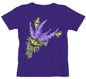 Butterfly Bush Ladies Scoop Neck Tee