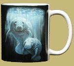 Manatee Duet Ceramic Mug - Back