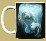 Manatee Duet Ceramic Mug - Front