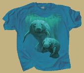 Manatee Duet Adult T-shirt test8