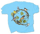 Songbird Wreath Adult T-shirt