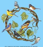 Songbird Wreath Adult T-shirt