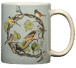 Songbird Wreath Ceramic Mug - Back