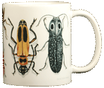 Beetle Circle Ceramic Mug - Back