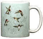 Hummingbird Lace Ceramic Mug - Back