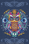 Owl Hex Youth T-shirt - Front
