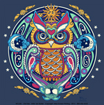 Owl Hex Adult T-shirt - Front