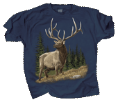 Elk Encounter Adult T-shirt
