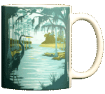 Swamp Life Ceramic Mug - Back