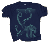 Sea Monster Adult T-shirt