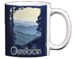 Mountain Life Ceramic Mug - Back