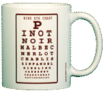 Wine Eye Chart Ceramic Mug - Back