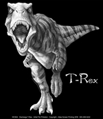 Discharge T-Rex Adult Comfort Colors T-shirt test8