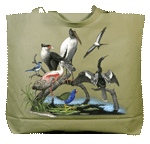 Florida Birds Canvas Tote - Front