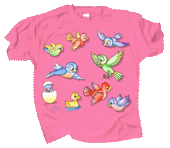 Sparkle Birds Youth T-shirt