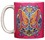 Butterfly Hex Ceramic Mug