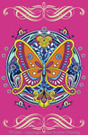 "Butterfly Hex 2"" X 3"" Magnet"
