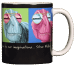 Imagine T-Rex Ceramic Mug - Back