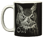 Discharge Owl Ceramic Mug