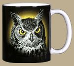 Eye of the Owl Ceramic Mug - Back