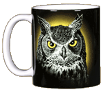 Eye of the Owl Ceramic Mug
