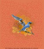 Bluebird Lace Adult T-shirt - Back