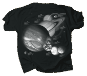 Planets & Dwarf Planets Youth T-shirt - Back