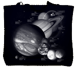 Planets & Dwarf Planets Canvas Tote - Back