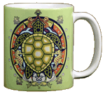 Sea Turtle Hex Ceramic Mug - Back