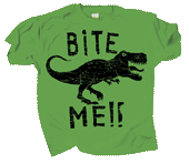 Dino Bite Me Adult T-shirt