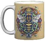 Honey Bee Hex Ceramic Mug
