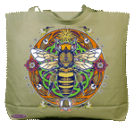 Honey Bee Hex Canvas Tote