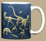 Dinosaur Bones Ceramic Mug - Back