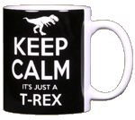 Keep Calm T-Rex Ceramic Mug - Back