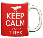 Keep Calm T-Rex Ceramic Mug