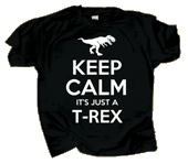 Keep Calm T-Rex Adult T-shirt test8