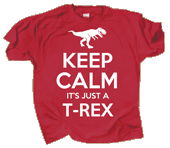 Keep Calm T-Rex Adult T-shirt