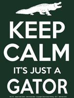 Keep Calm Gator Adult T-shirt