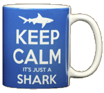 Keep Calm Shark Ceramic Mug - Back